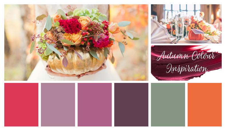 Autumn colours for a wedding