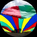 Team building Human Parachute