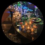 Quirky wedding ideas mirror tables