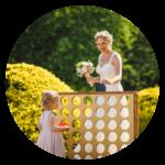 Quirky wedding ideas Garden games