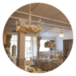 Quirky wedding ideas Floral chandeliers