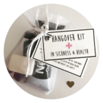Quirky wedding ideas Hangover wedding favours