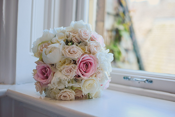Rose and Peonie wedding bouquet