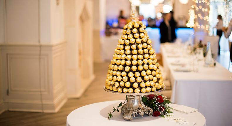 Ferrero Rocher Wedding Cake