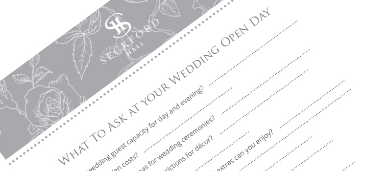 What to ask at wedding open days