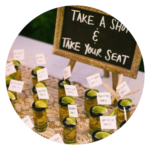 Quirky wedding ideas Take a shot and your seat