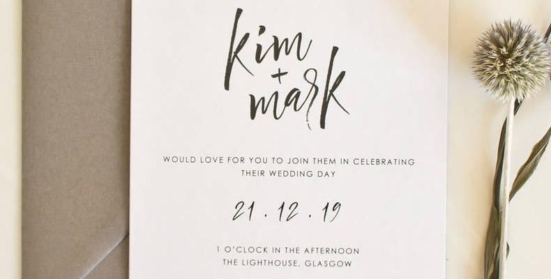 Minimalist style invites