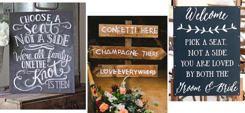 Wedding Signs Navigation